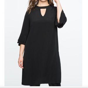 NWT Eloquii Black Ruffle Sleeve Easy Dress Size 16